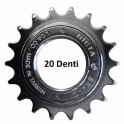 Ruota libera 20 denti cromata