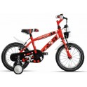 "Bicicletta bimbo 16"" Rooar Rosso"