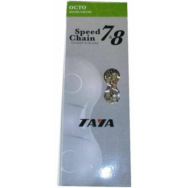 Catena Taya octo 7//8 velocità silver 116 maglie