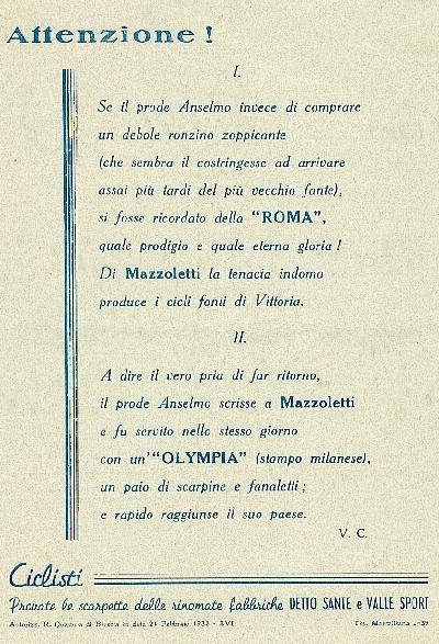 Da una pubblicità del 1938